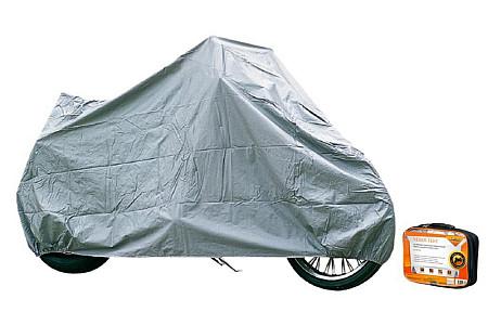 Чехол-тент на мотоцикл защитный, размер L (250х100х120см), цвет серый, AC-MC-06