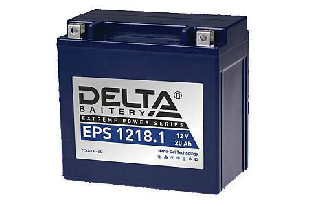 Аккумулятор для квадроциклаDelta EPS 1218.1 (повышенный пусковой ток)  YTX20CH-BS