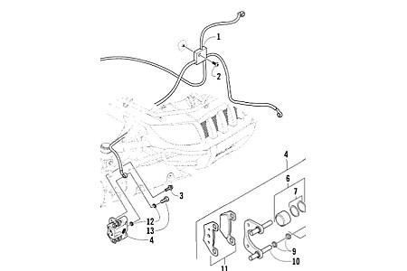 Тормозные шланги с пауком для квадроцикла Arctic Cat 1000/700/650/500/450/400 1502-015