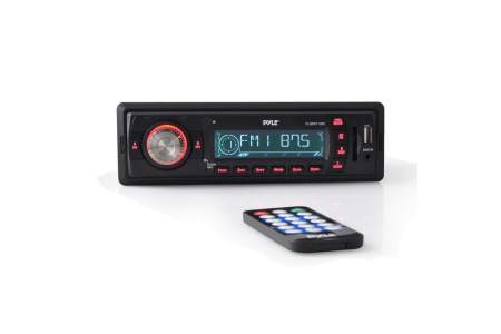 Магнитола с пультом и двумя динамиками (5.25') MP3 USB SD AUX PLMRKT12BK