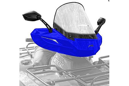 Стекло для квадроцикла универсальное с зеркалами ATV WindPro Viper Blue 0505-669