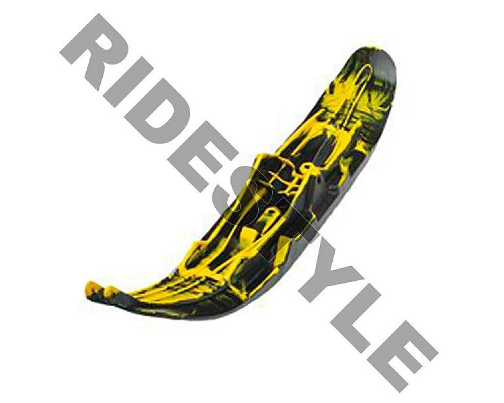 Лыжа снегохода для горного спорта правая черная/желтая BRP/Ski-Doo Pilot 6.9 505073060