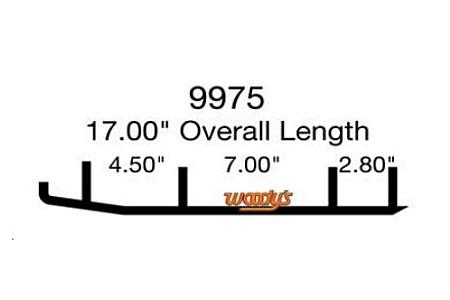 Коньки для снегохода Arctic Cat Bearcat 570 / Z1 / SR Viper / 8JP-F3731-00-00 / 2703-375 / 1703-218 / 1703-848 / 1703-849 / 0703-871 / EAT3-9975 / WAT-9975 9308-03 3S - кант 16см
