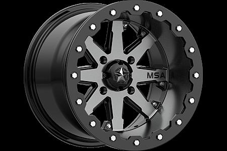 Диск колесный с бедлоком для квадроцикла BRP Can-Am MSA M21 LOK Charcoal Tint, R15x7, 4x137 M21-05737