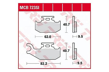 Колодки тормозные (серия Sinter Offroad) MCB723SI 705600349, 705600150, 705600004, 705601147