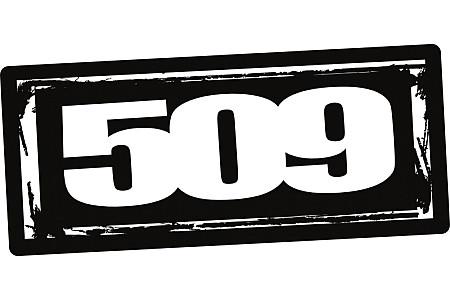 """Наклейка 509 Logo- 12"""" 509-STK-LO12-10"""