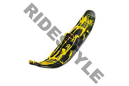 Лыжа снегохода для горного спорта левая черная/желтая BRP/Ski-Doo Pilot 6.9 505073059