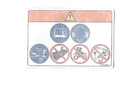 Наклейка информационная BRP 704903962