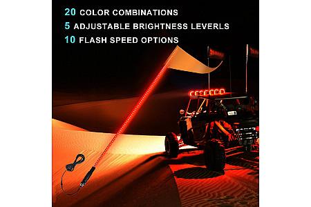Флагшток с LED подсветкой МАТОВЫЙ (Как оптоволокно) и пультом управления TR804 TR804-09 TR804-12 TR804-15 1,5 м