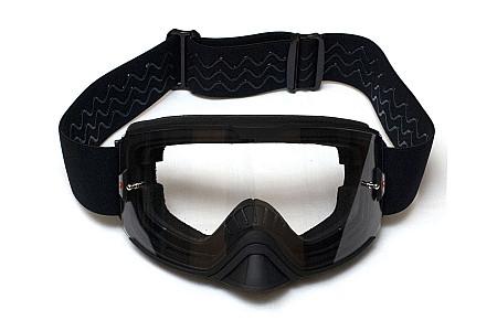 Очки для снегохода / квадроцикла Kemimoto KinPin черные со съемной линзой FGBL1000 Зеркальная линза
