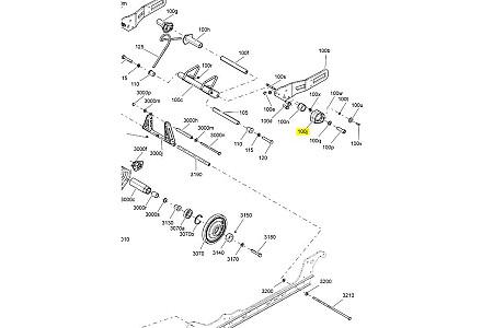 Блок регуриовки жесткости задней подвески Ski-Doo левый 503192426