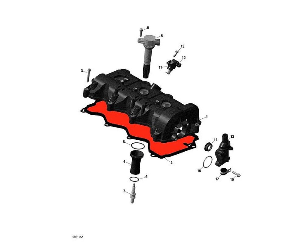 Прокладка клапанной крышки для снегохода BRP Ski-Doo RENEGADE/EXPEDITION/MXZ/Grand Touring/GSX 1200 420431040/420431041