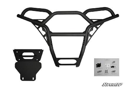 Бампер передний квадроцикла черный Polaris RZR XP 900 800 S 570 Super ATV FB-P-RZR