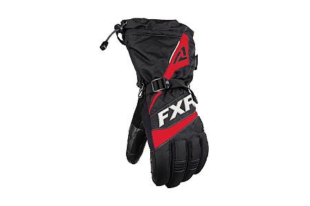 Перчатки FXR Fuel 2020 мужские с утеплителем (Black Red) 200800-1020 (Размер М) Размер М