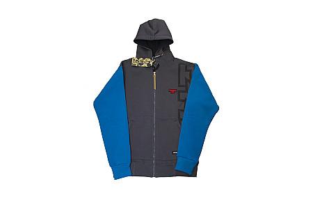 Толстовка с капюшоном на молнии FullT T Серый Голубой