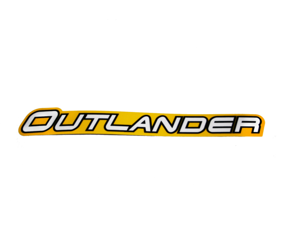"Наклейка передней арки ""Outlander"" квадроцикла BRP жёлто-белая 704902743"