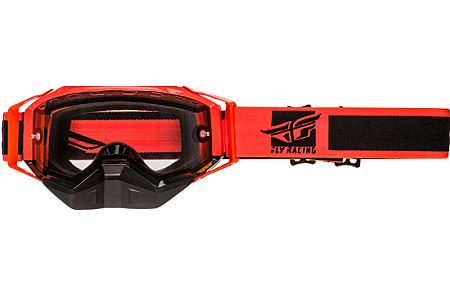 Очки снегоходные FLY RACING ZONE Оранжевые с прозрачной линзой 37-5020