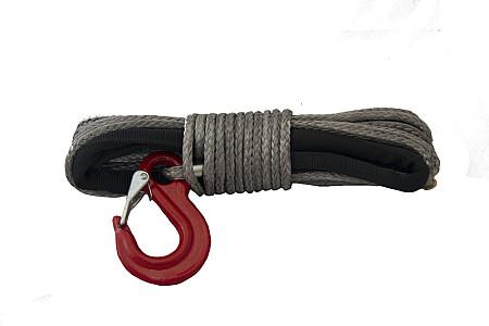 Трос синтетический 5.5мм. X 15 м с крюком 5.5X15DNHG