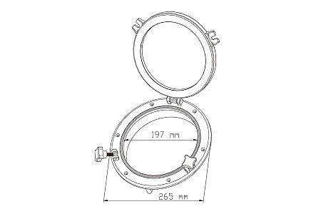 Иллюминатор SeaFlo, 197 (265) мм