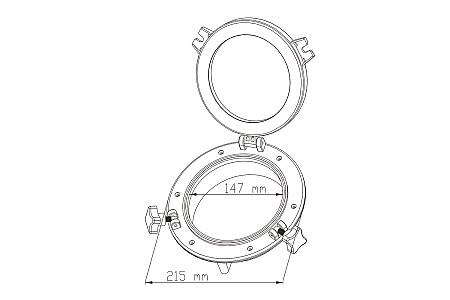 Иллюминатор SeaFlo, 147 (215) мм