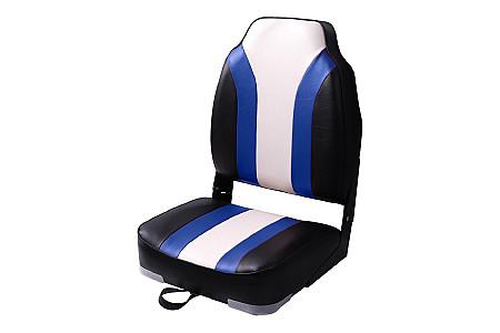 Кресло складное алюминиевое с мягкими накладками, угольный/серый/белый