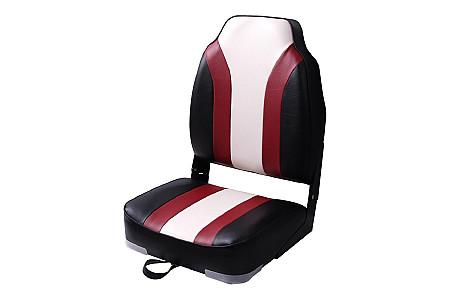 Кресло складное алюминиевое с мягкими накладками, красный/синий/белый