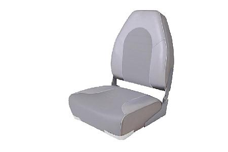 Кресло складное пластиковое с мягкими накладками, серый