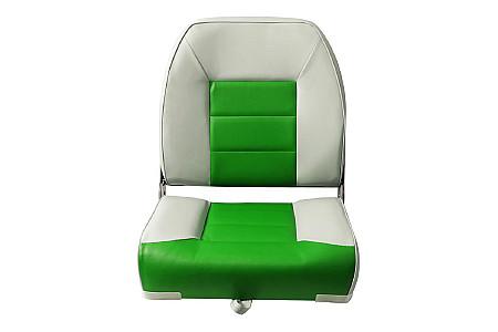 Кресло складное пластиковое с мягкими накладками, зеленый