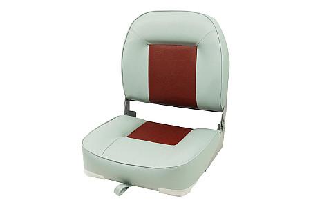 Кресло складное пластиковое с мягкими накладками, серый/красный