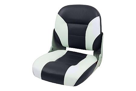Кресло складное пластиковое с мягкими накладками, белый/угольный