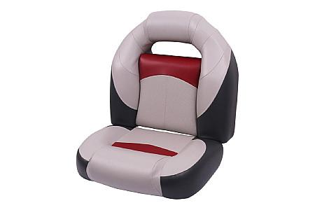 Кресло складное пластиковое с мягкими накладками, серый/угольный/красный