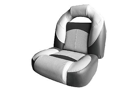 Кресло складное пластиковое с мягкими накладками, серый/угольный/угольный