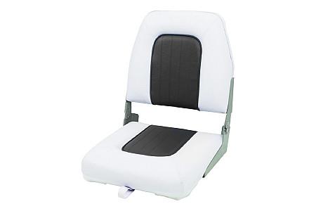 Кресло складное пластиковое с мягкими накладками,белый/угольный
