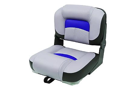 Кресло складное пластиковое с мягкими накладками, серый/угольный/синий