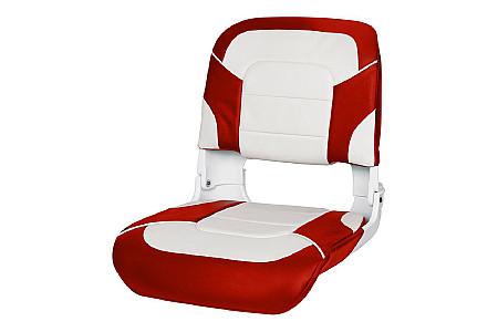 Кресло складное пластиковое с мягкими накладками,белый/красный