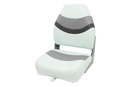 Кресло складное пластиковое с мягкими накладками, белый/серый/угольный