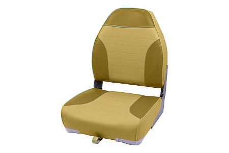 Кресло складное пластиковое с мягкими накладками, коричневый/песочный