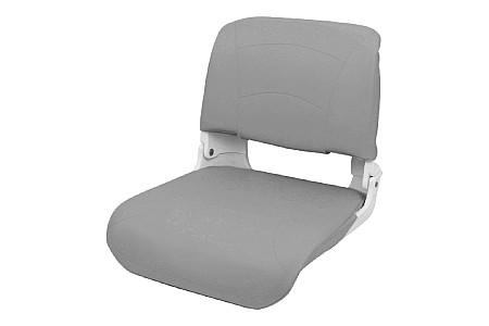 Кресло складное пластиковое с мягкими накладками, угольный