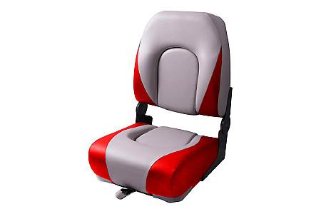 Кресло складное пластиковое с мягкими накладками, белый/красный