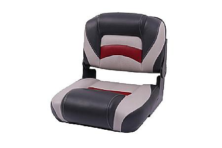 Кресло пластиковое с мягкой обшивкой, серый/угольный/красный