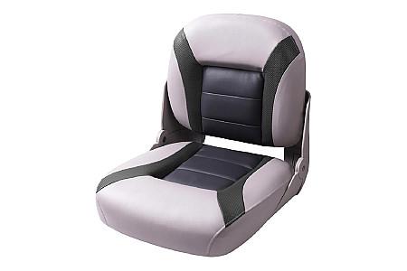 Кресло складное пластиковое с мягкими накладками, серый/угольный