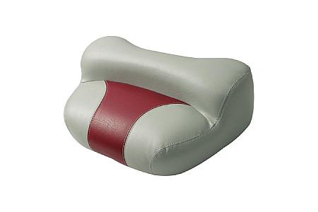 Диван пластиковый с мягкой обшивкой, серый/красный