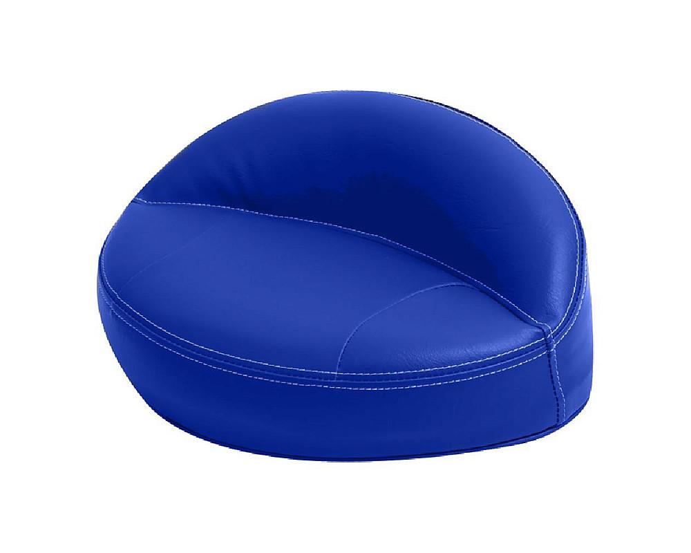 Диван пластиковый с мягкой обшивкой, синий