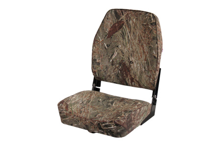 Кресло складное алюминиевое с мягкими накладками, камуфляж осень