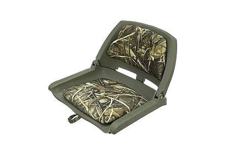 Кресло складное пластиковое с мягкими накладками, камуфляж лето