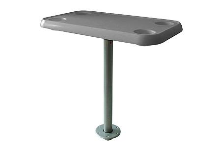 Стол пластиковый прямоугольный, серый