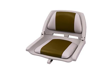 Кресло складное пластиковое с мягкими накладками, коричневый