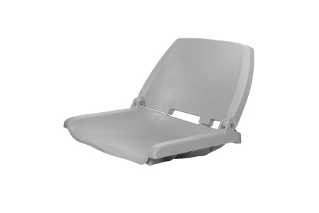 Кресло складное пластиковое, серый