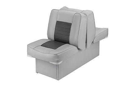 Кресло спаренное пластиковое с мягкой обшивкой, серый/угольный