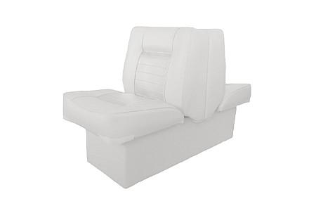 Кресло спаренное пластиковое с мягкой обшивкой, белый